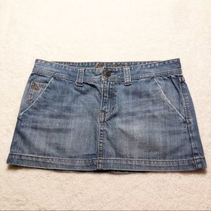 Abercrombie & Fitch Light Wash Denim Mini Skirt